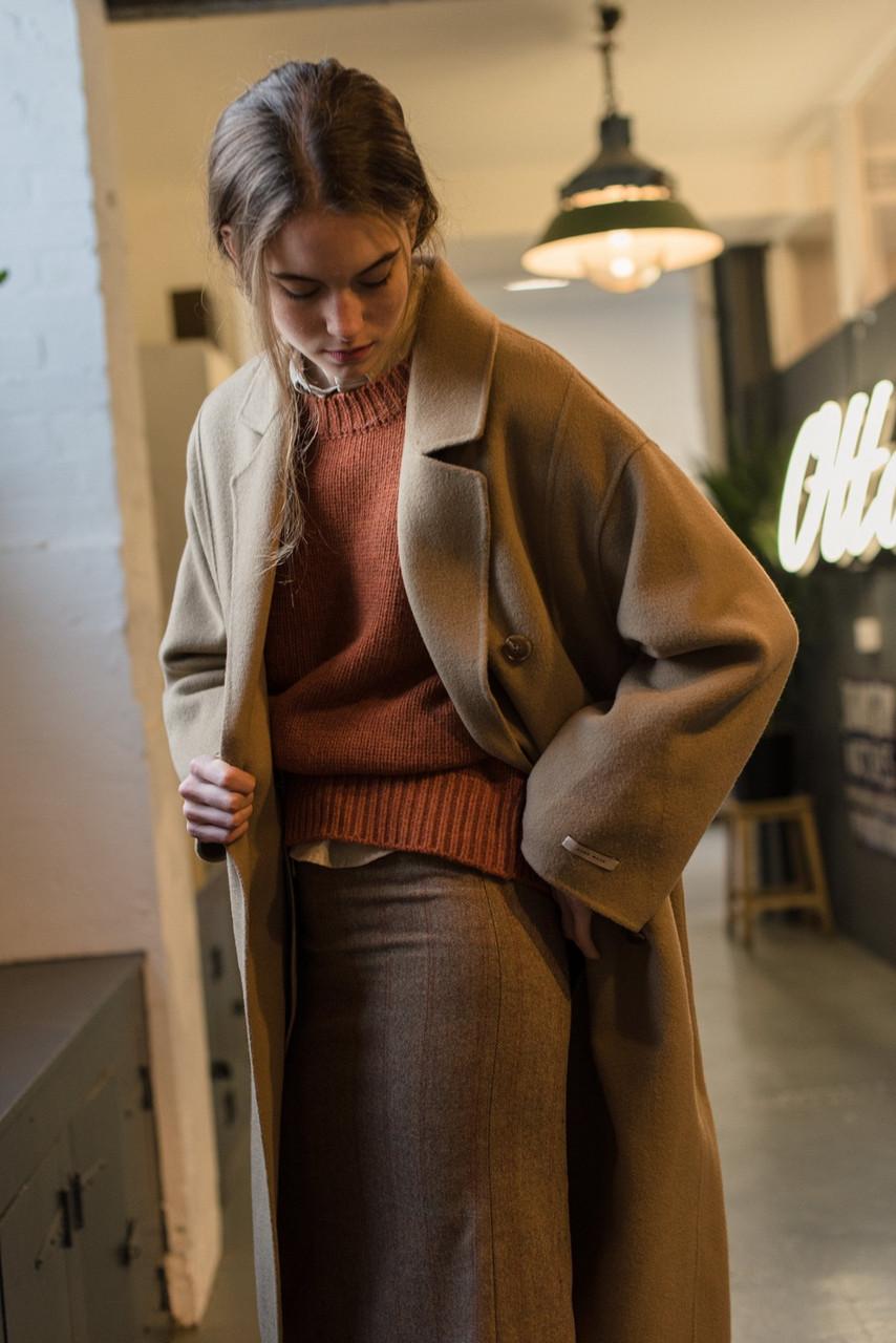 Hoya Seamless Long Coat, Brown