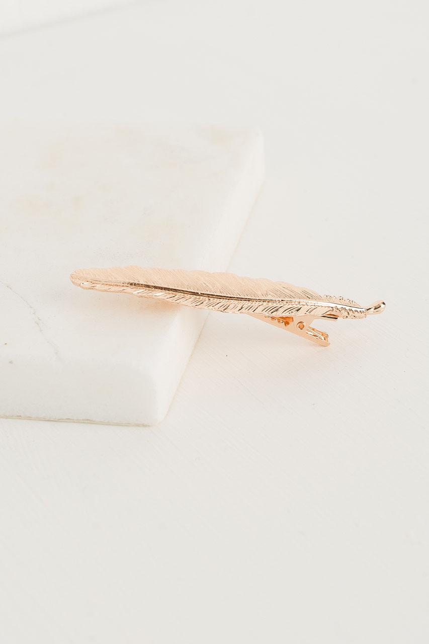 ƒlodie Leaf Hair Pin, Gold
