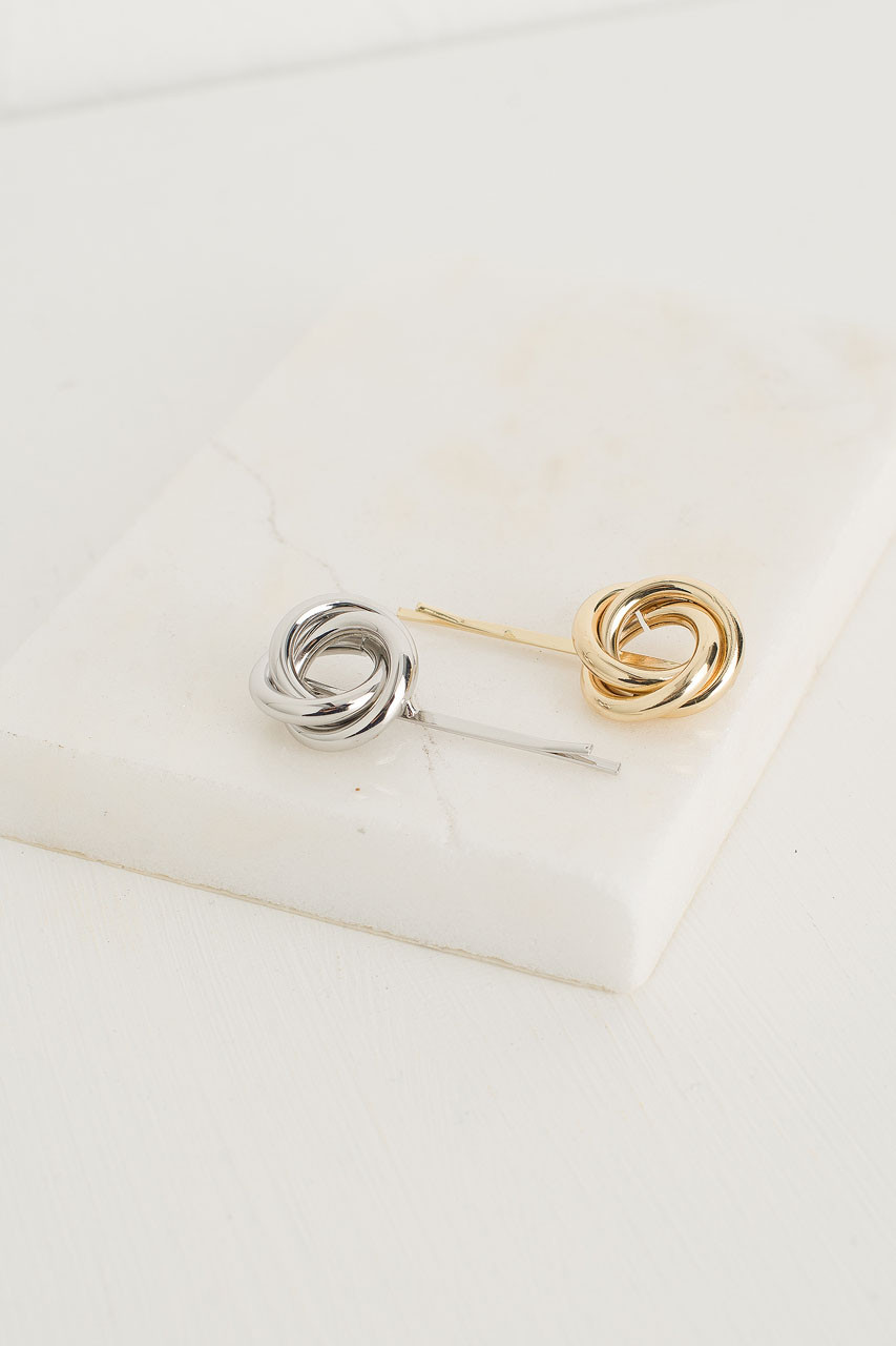 Vlady Twin Hairpins, Gold/Silver