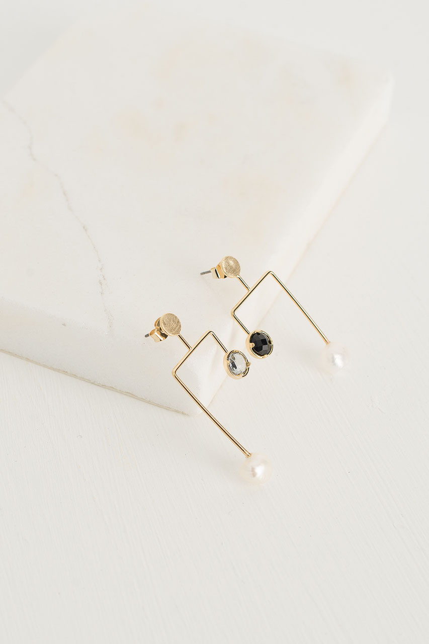 Valeria Unbalanced Earrings, Gold
