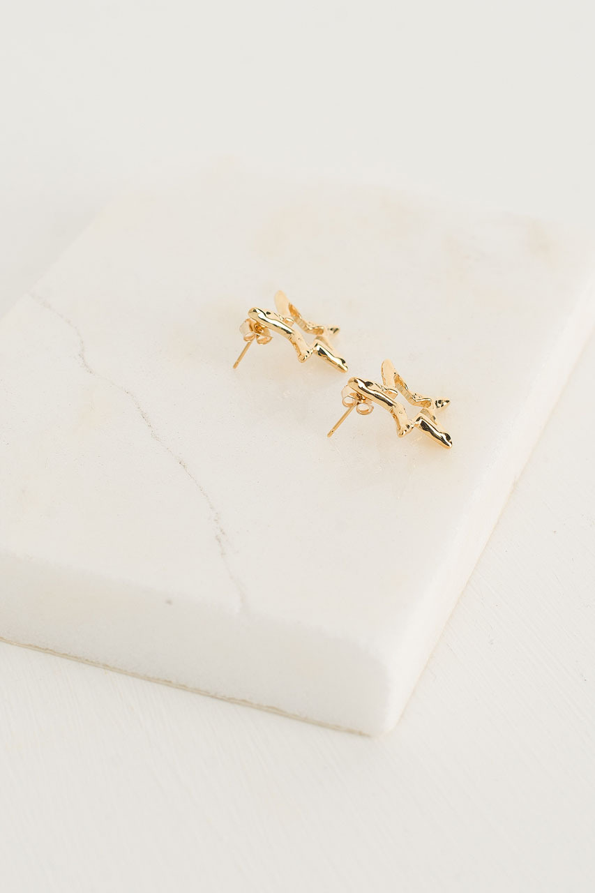 Stars Earrings, Gold