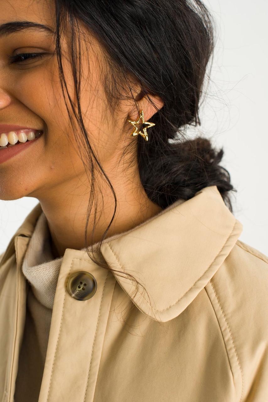 Stars Earrings, Gold