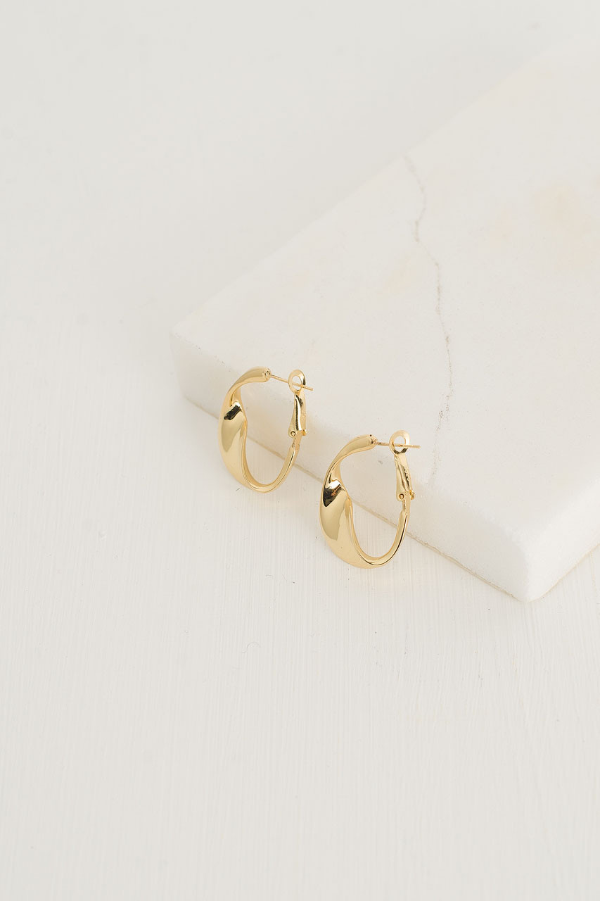 Sophie Gold Studs, Gold