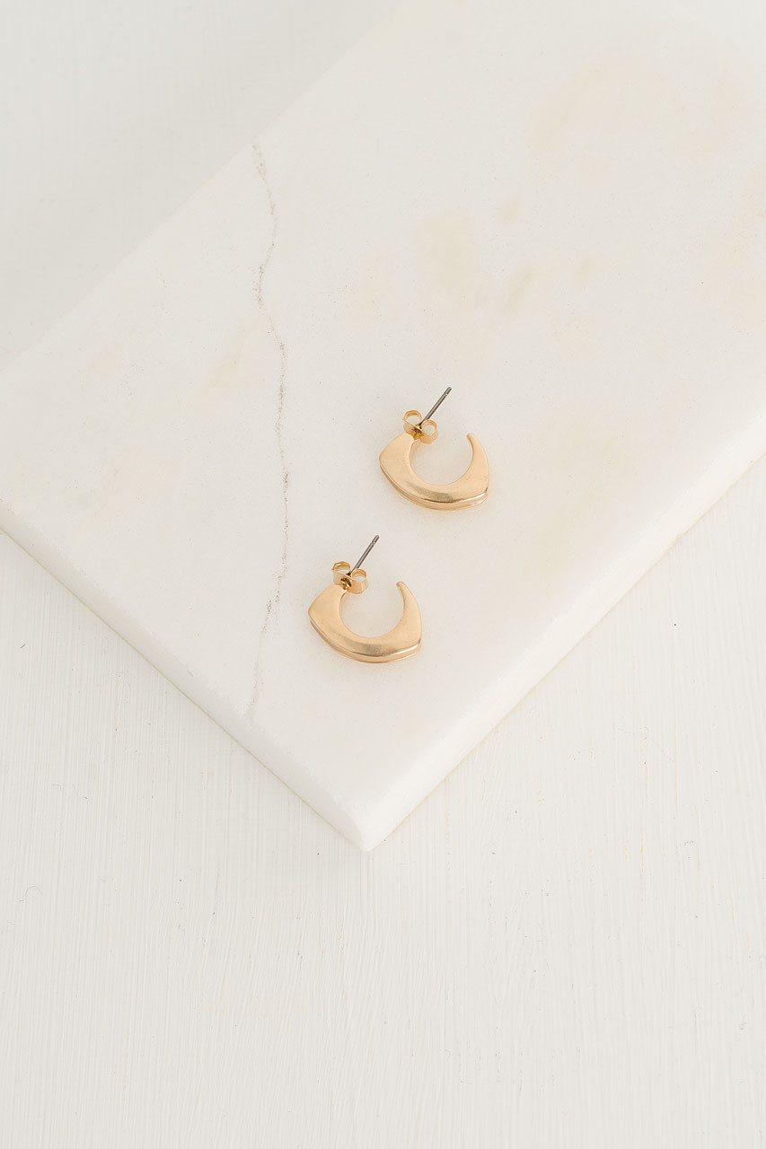 Half Hoop Colour Earrings, Ivory