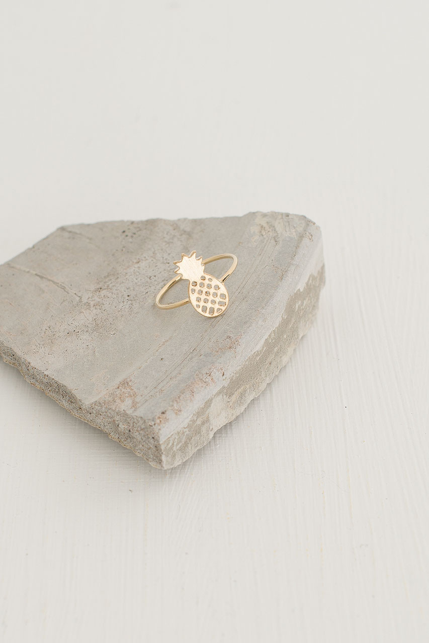 Pineapple Ring, Gold