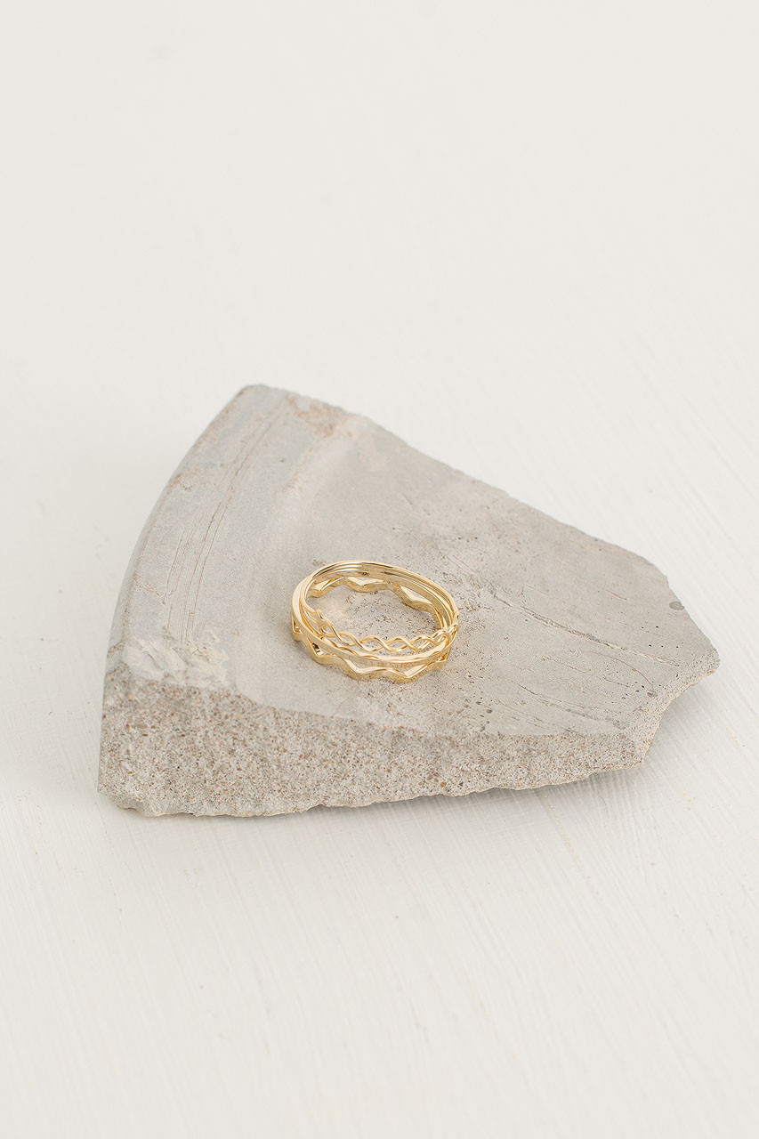 AdŽle Rings, Gold