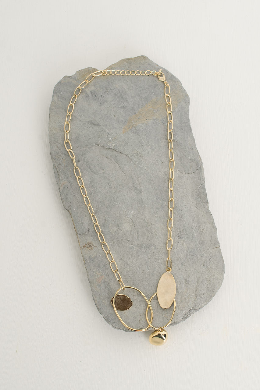 Cleo Chain Necklace, Gold