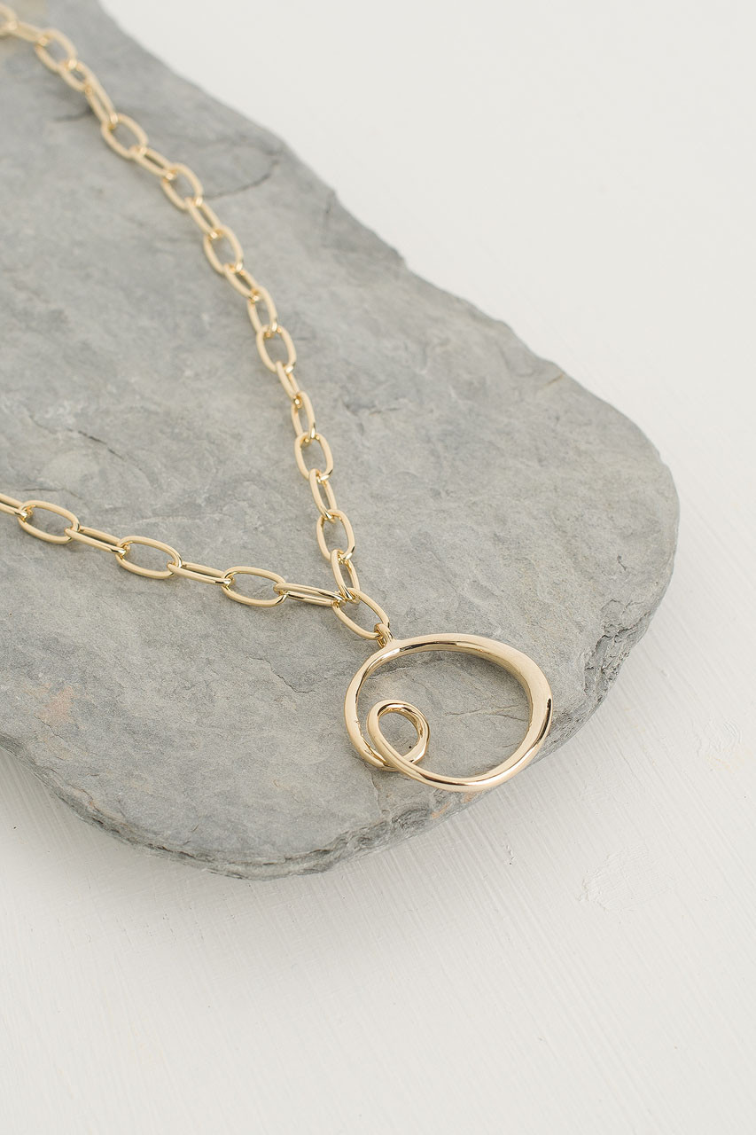 Sophie Circle Necklace, Gold