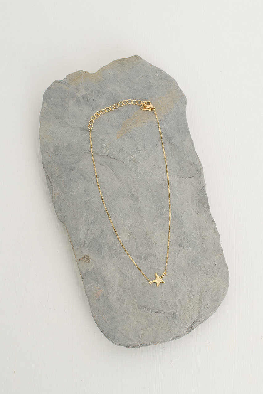 Mini Star Necklace, Gold