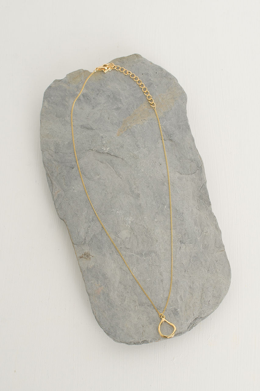 Jay Circle Necklace, Gold