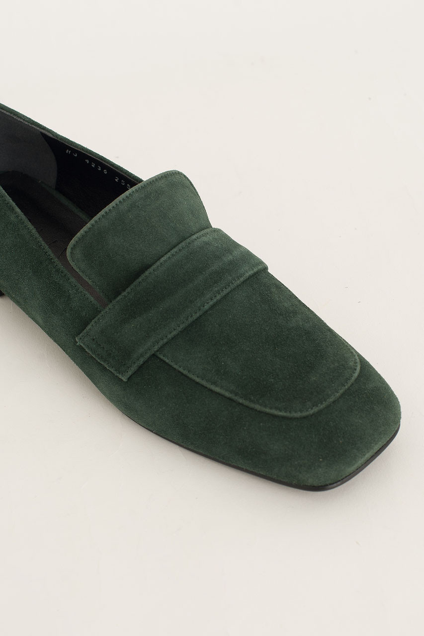 Calf Leather Suede Loafer, Green