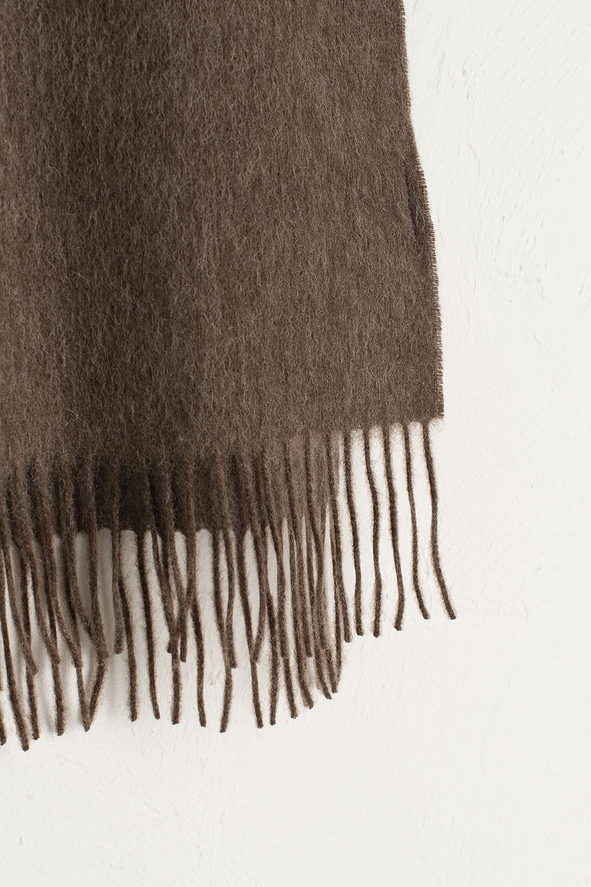 A/W Small Wool Scarf, Brown