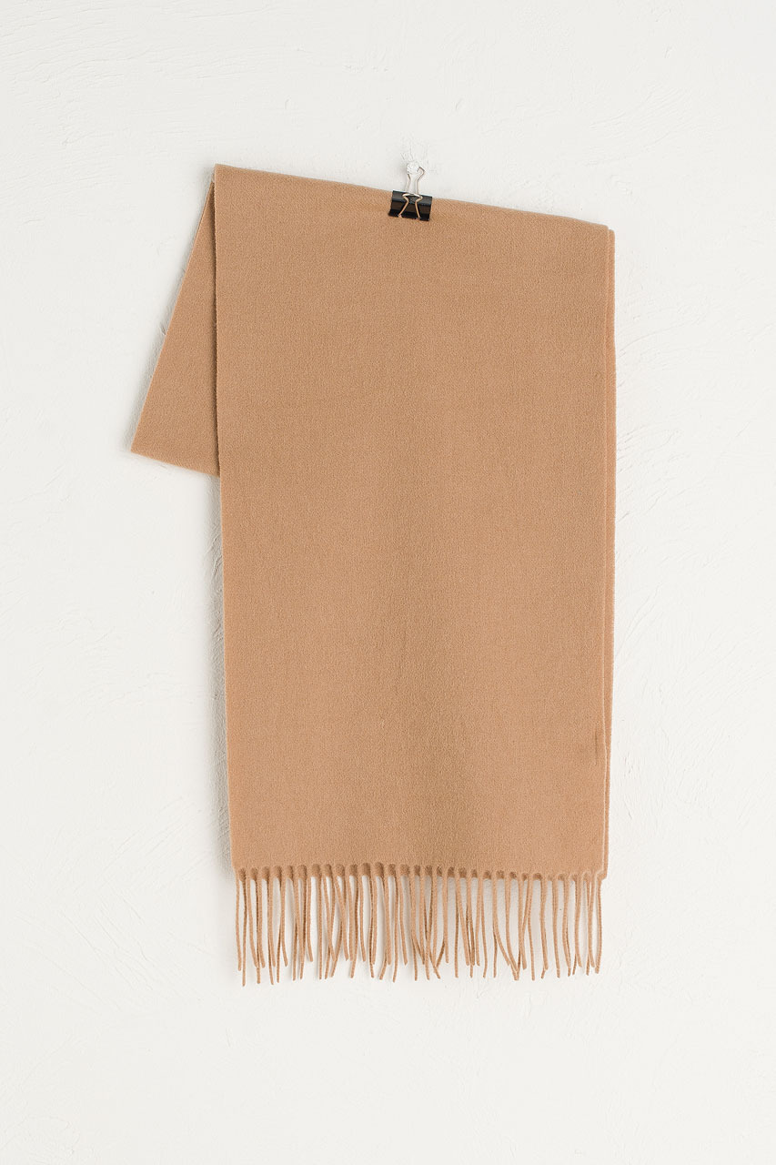 A/W Small Wool Scarf, Beige