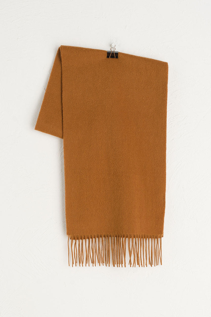 A/W Small Wool Scarf, Camel