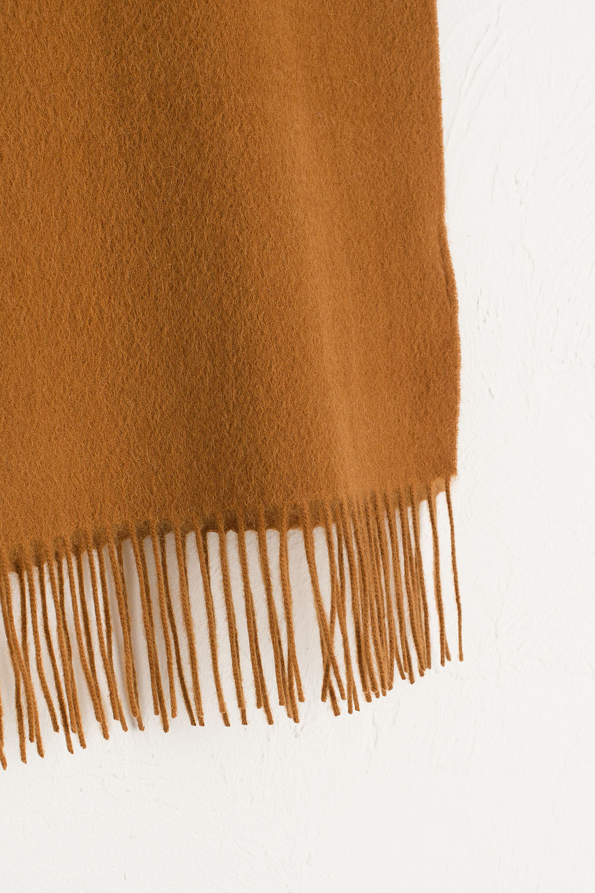 A/W Small Wool Scarf, Camel