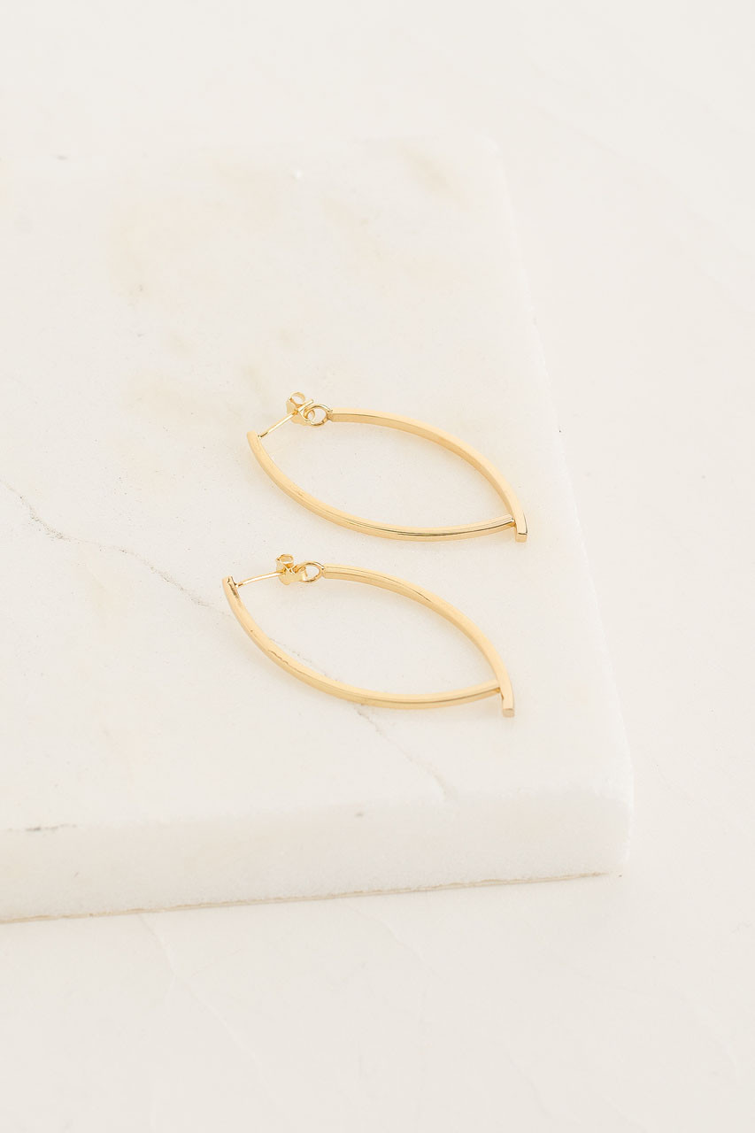 Bea Cross Earrings, Gold