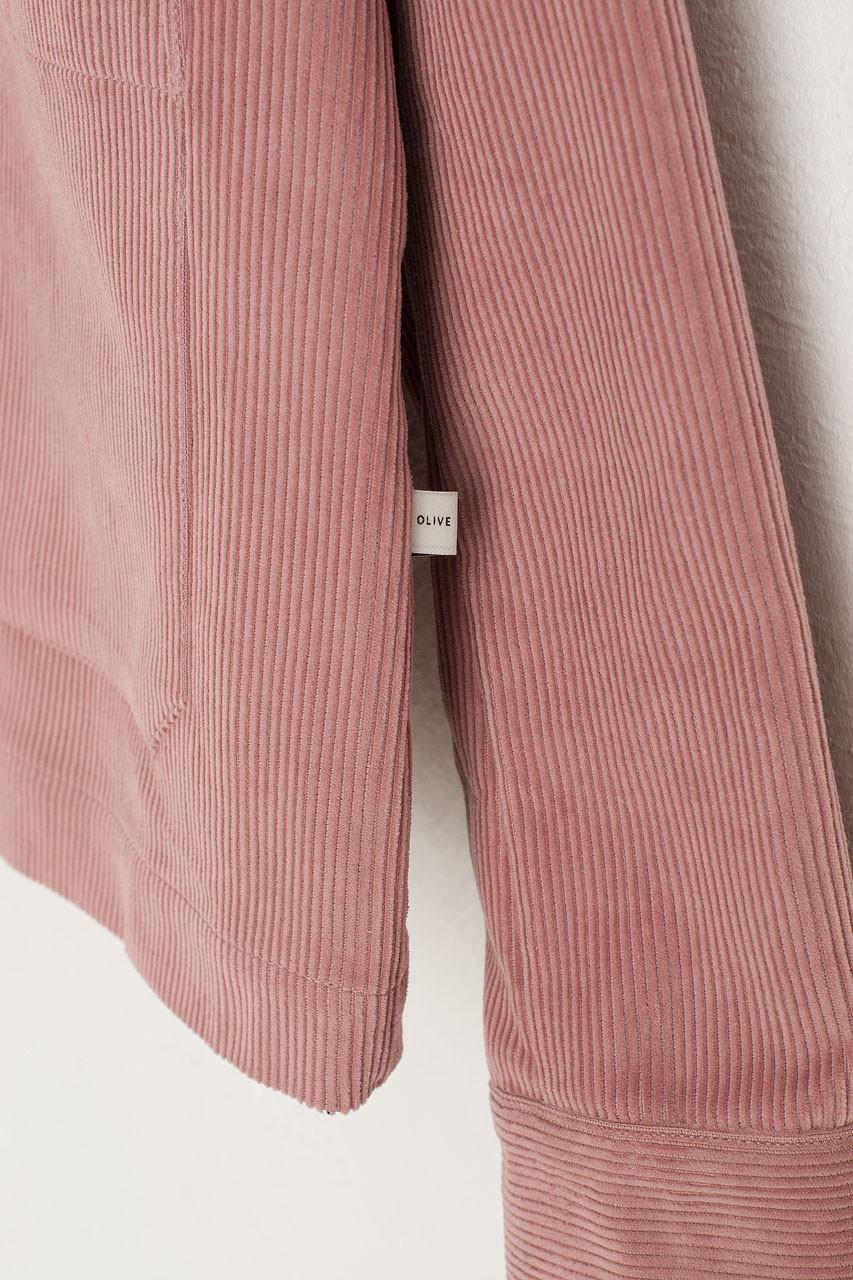 Cord Shirt Boxy Jacket, Pink