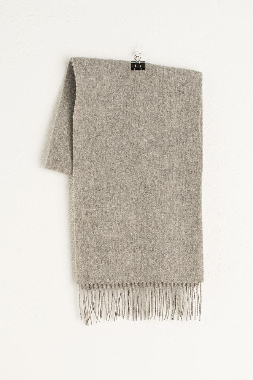 A/W Small Wool Scarf, Melange Grey