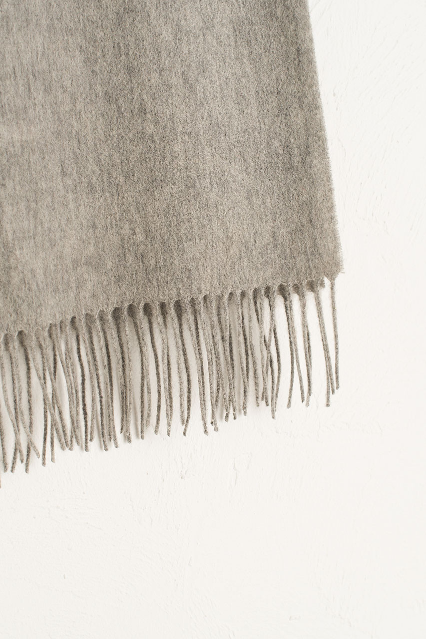 A/W Small Wool Scarf, Melange Grey
