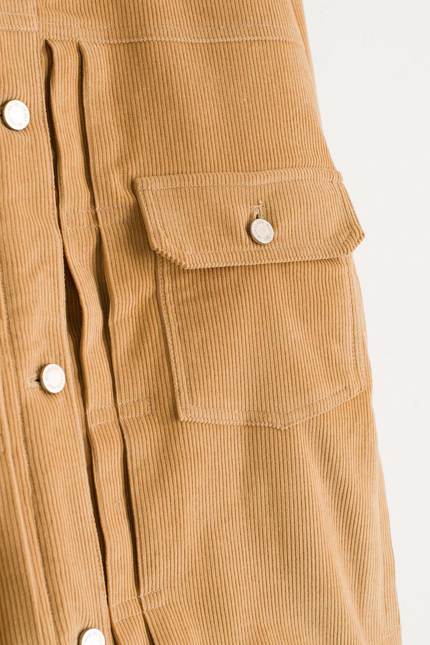 Cord Shearing Boxy Jacket, Beige