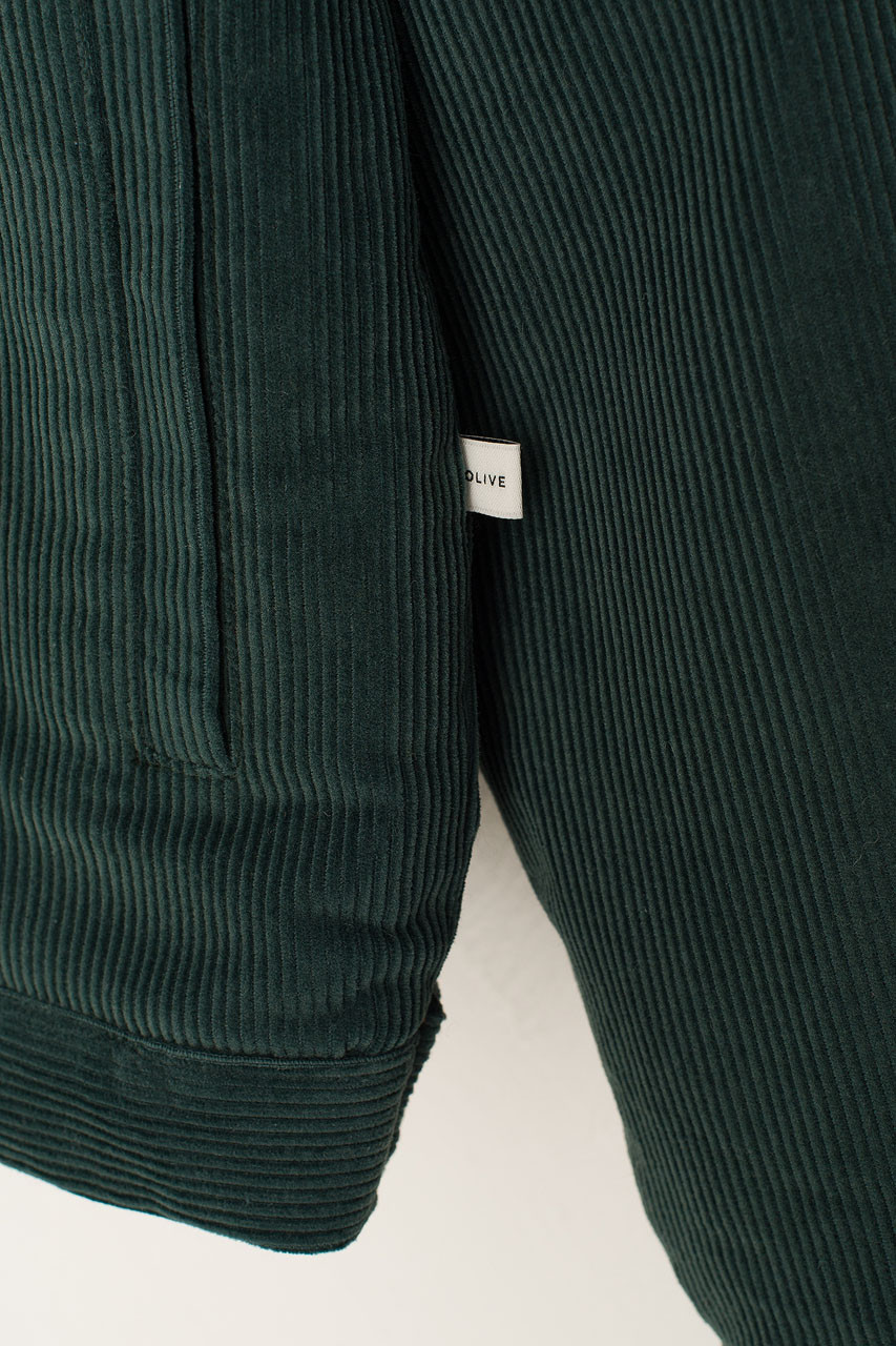 Cord Shearing Boxy Jacket, Teal