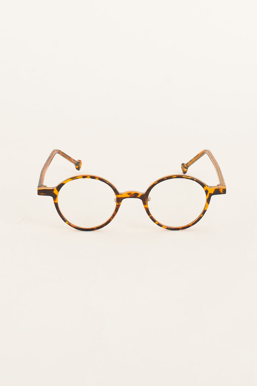 Circle Plastic Body Glasses, Tortoise