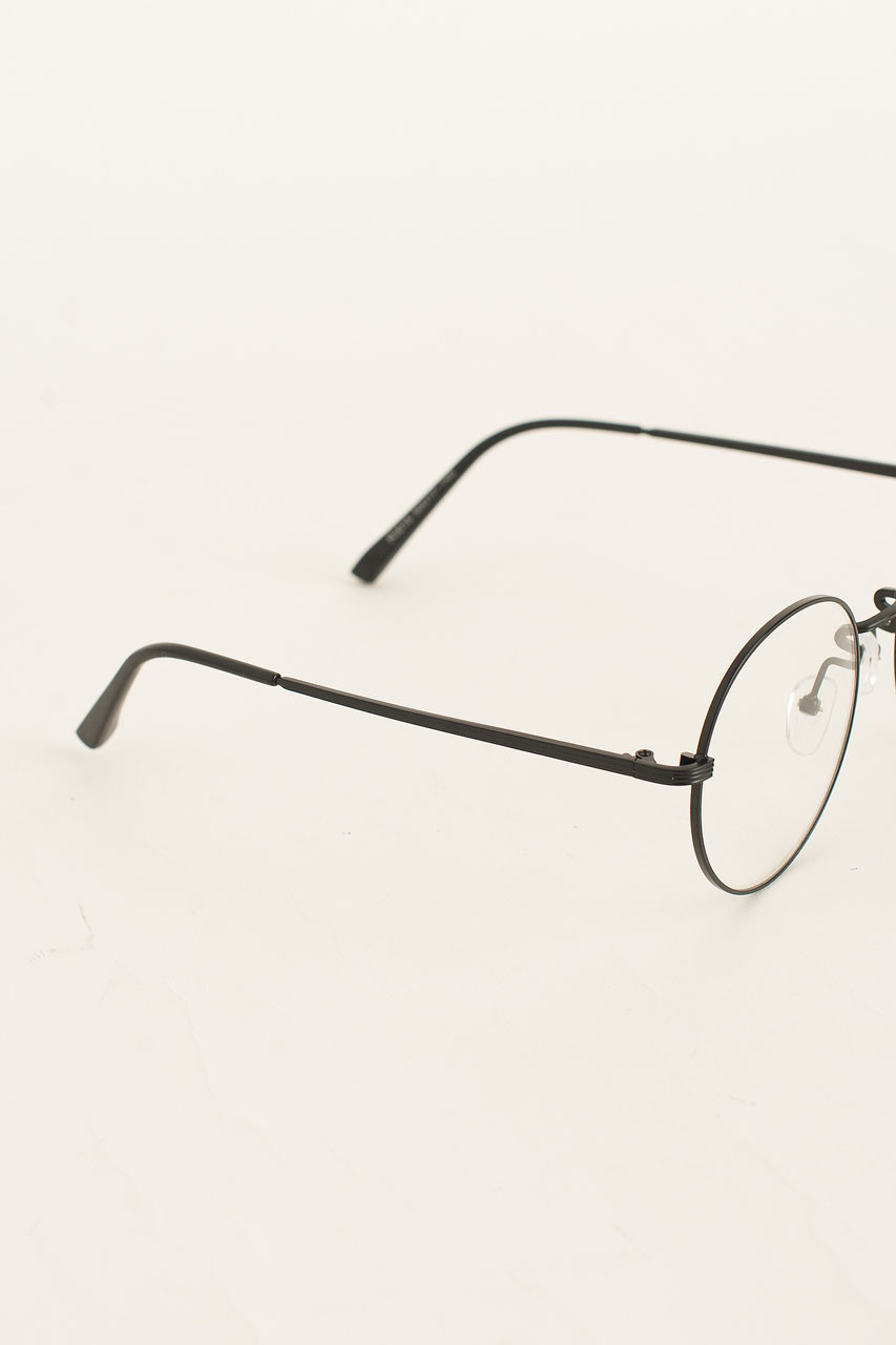 Oppa Round Glasses, Black