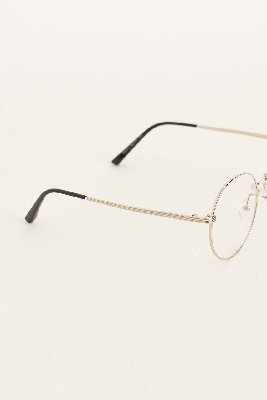 Oppa Round Glasses, Silver