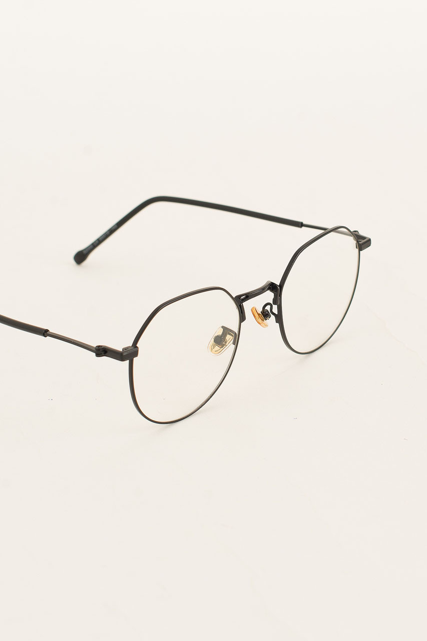 Polygon Glasses, Black