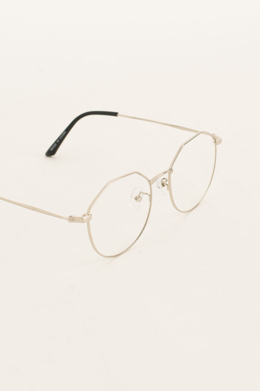 Polygon Glasses, Silver