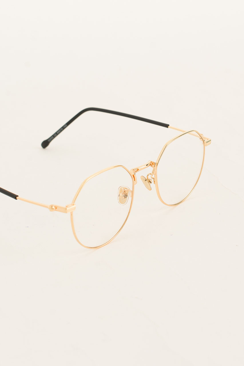 Polygon Glasses, Gold