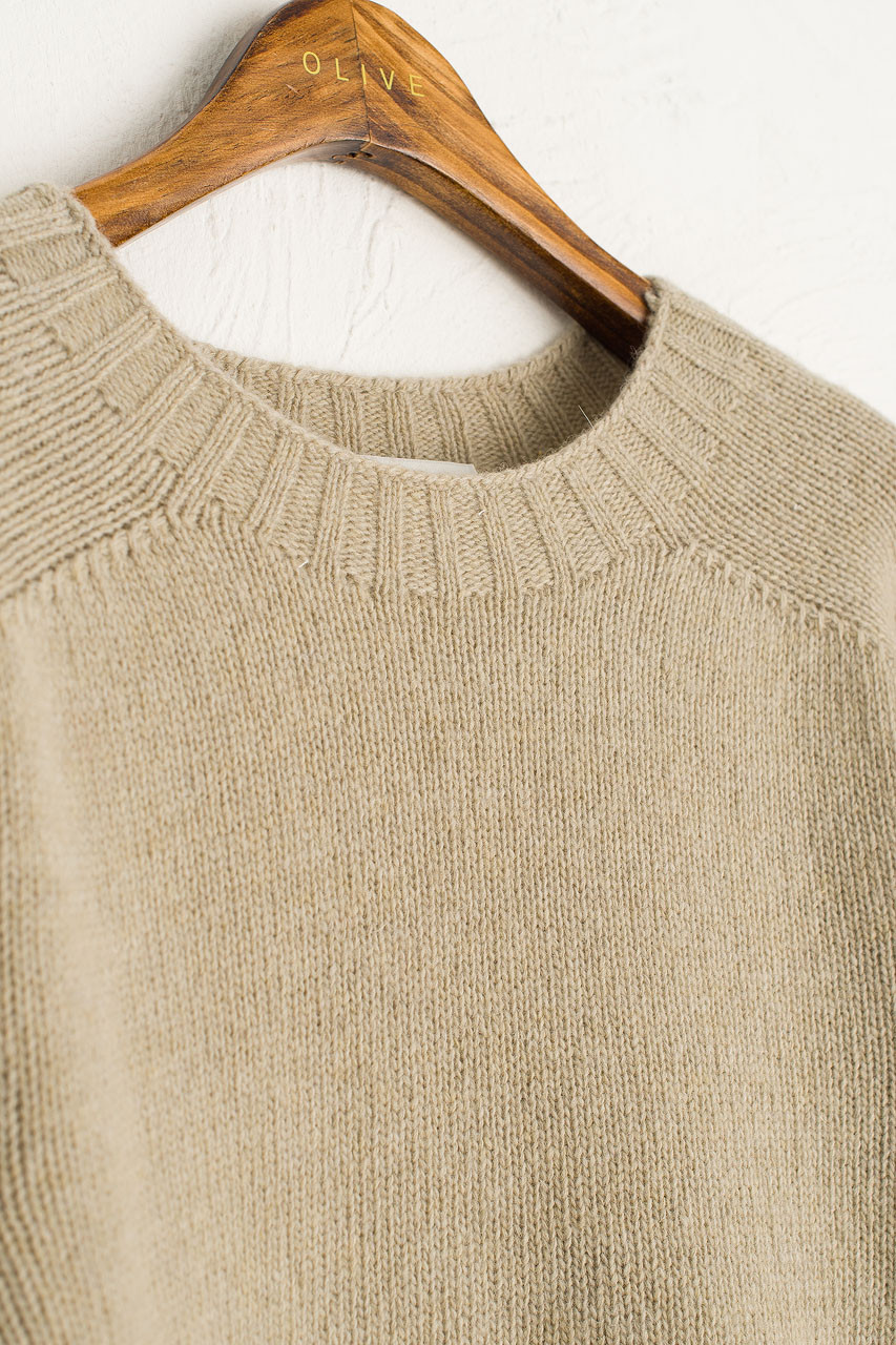 Ray Seamless Simple Jumper, Cement