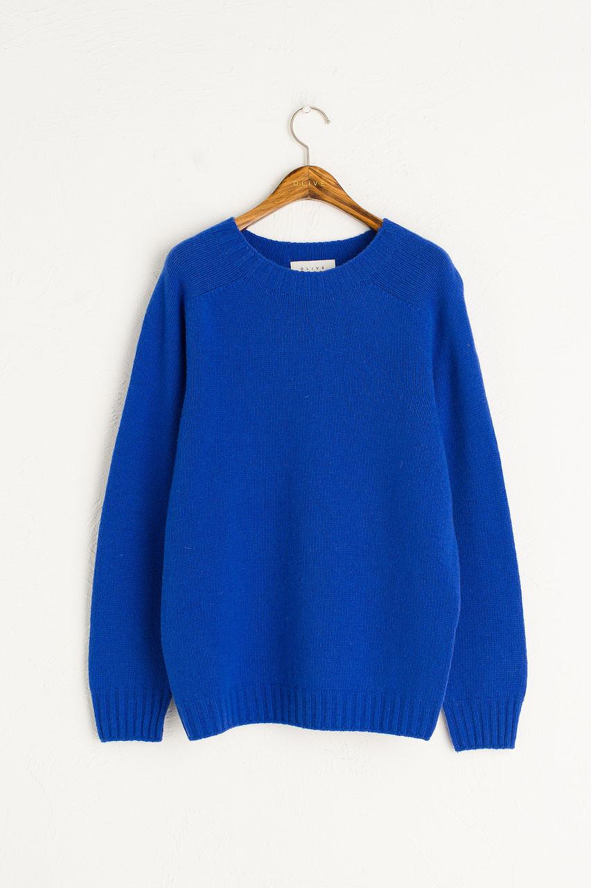Ray Seamless Simple Jumper, Cobalt Blue