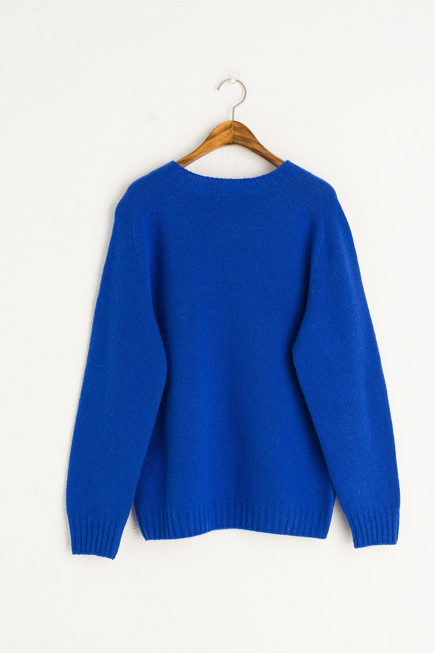 Ray Seamless Simple Jumper, Cobalt Blue