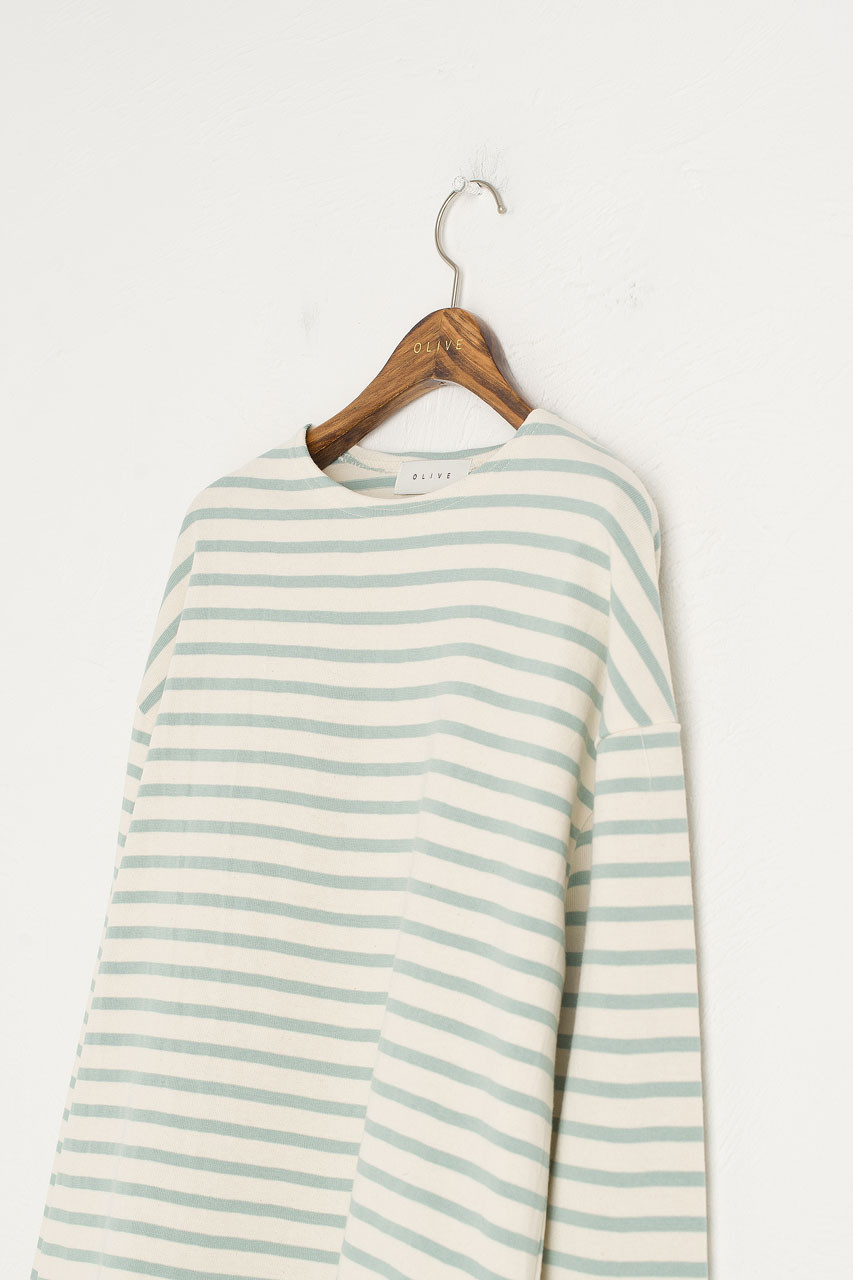Pastel Stripe Tee, Mint