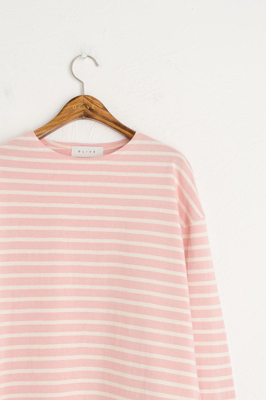 Pastel Stripe Tee, Pink