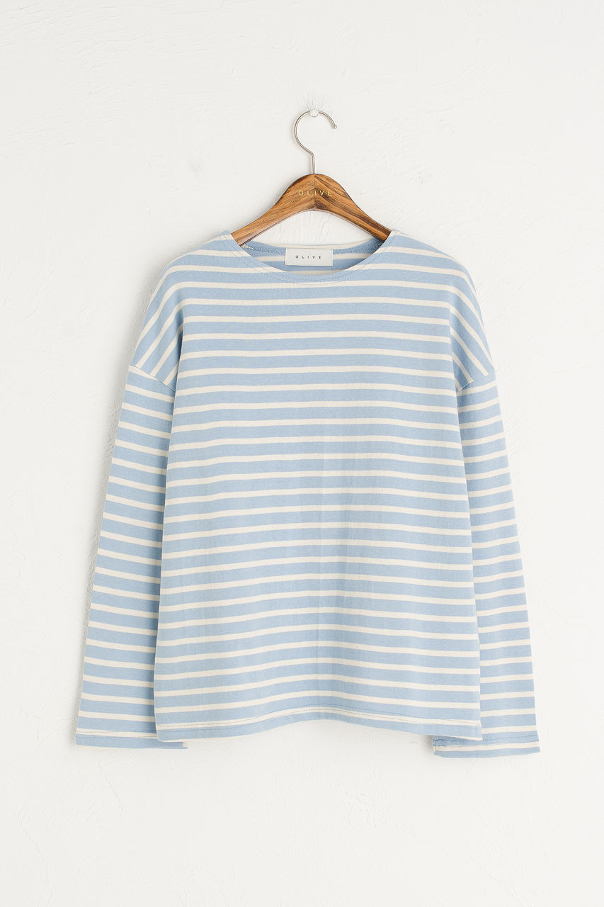 Pastel Stripe Tee, Blue