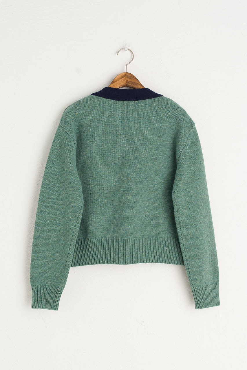 Twin Pocket Cardigan, Mint