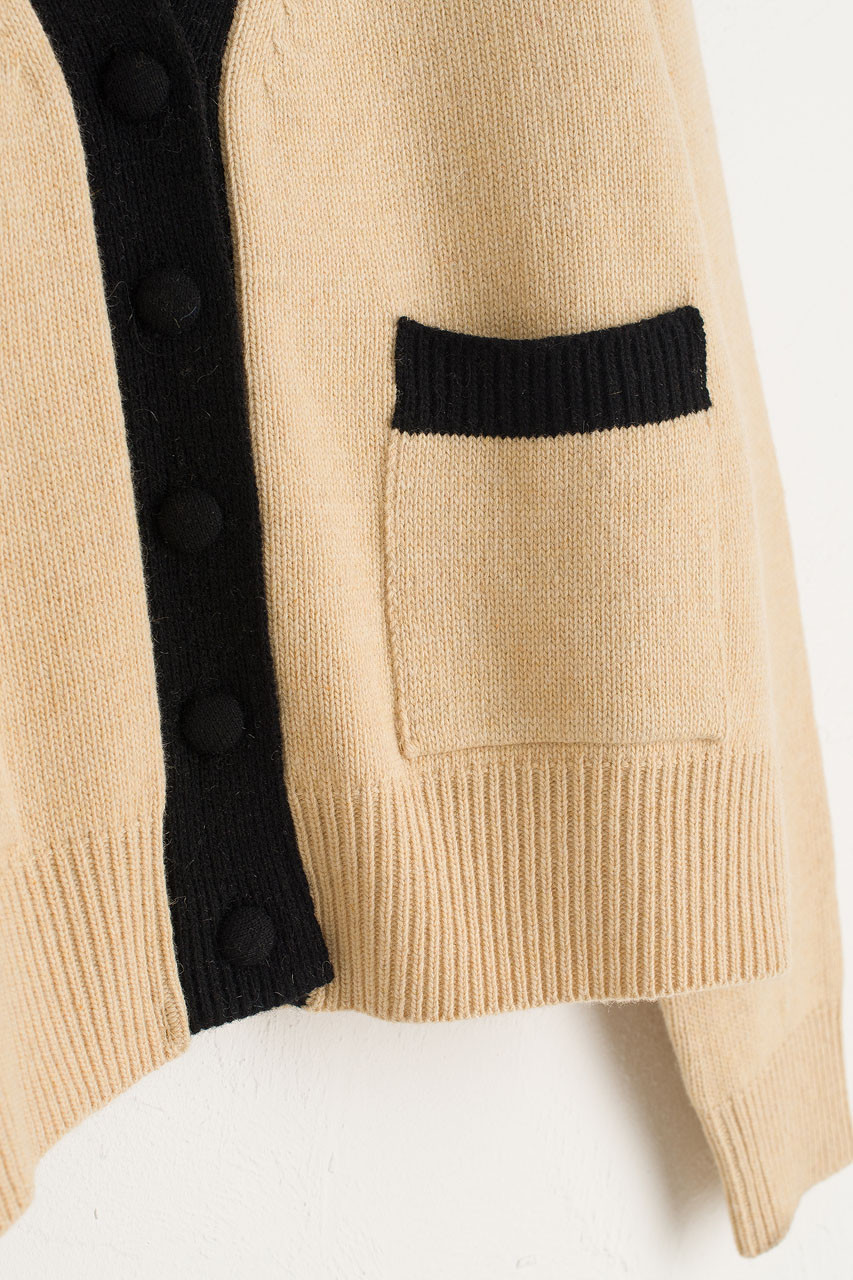 Twin Pocket Cardigan, Beige