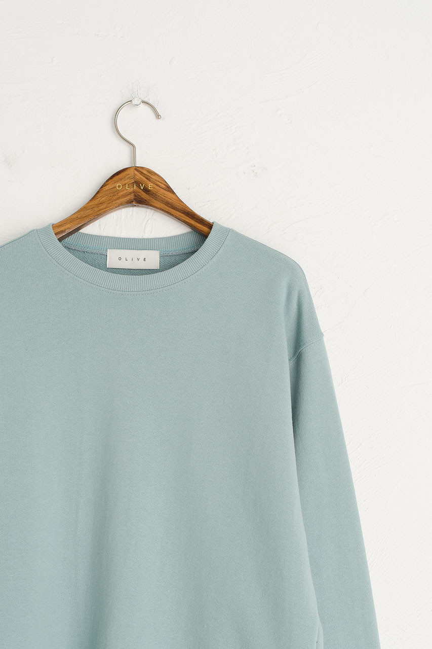 Pastel Sweatshirt, Mint