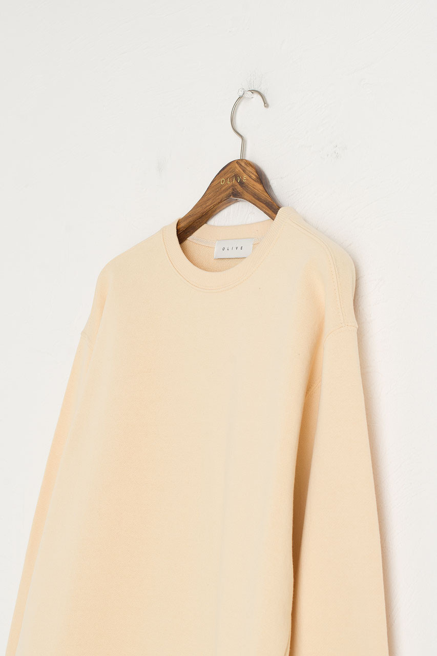 Pastel Sweatshirt, Yellow