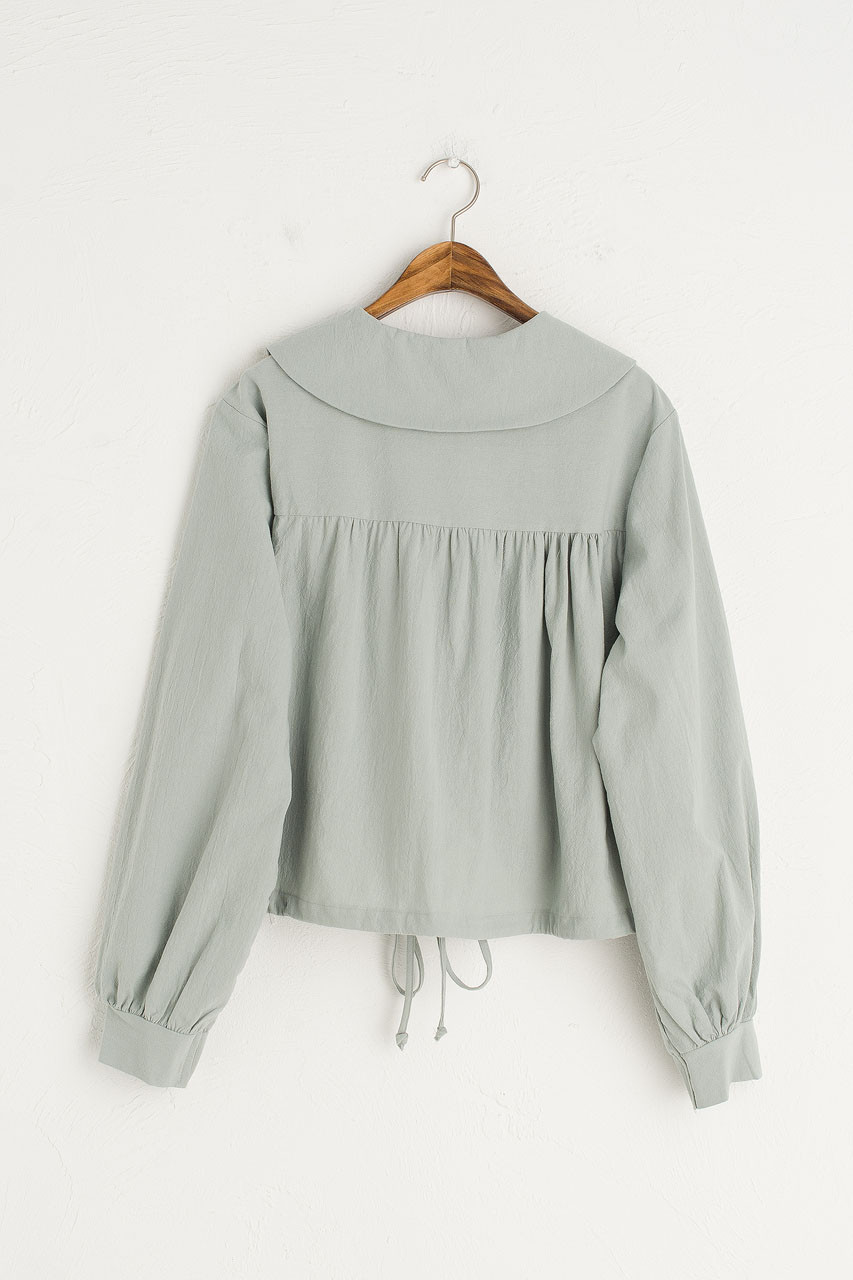 Alice Drawstring Blouse, Mint