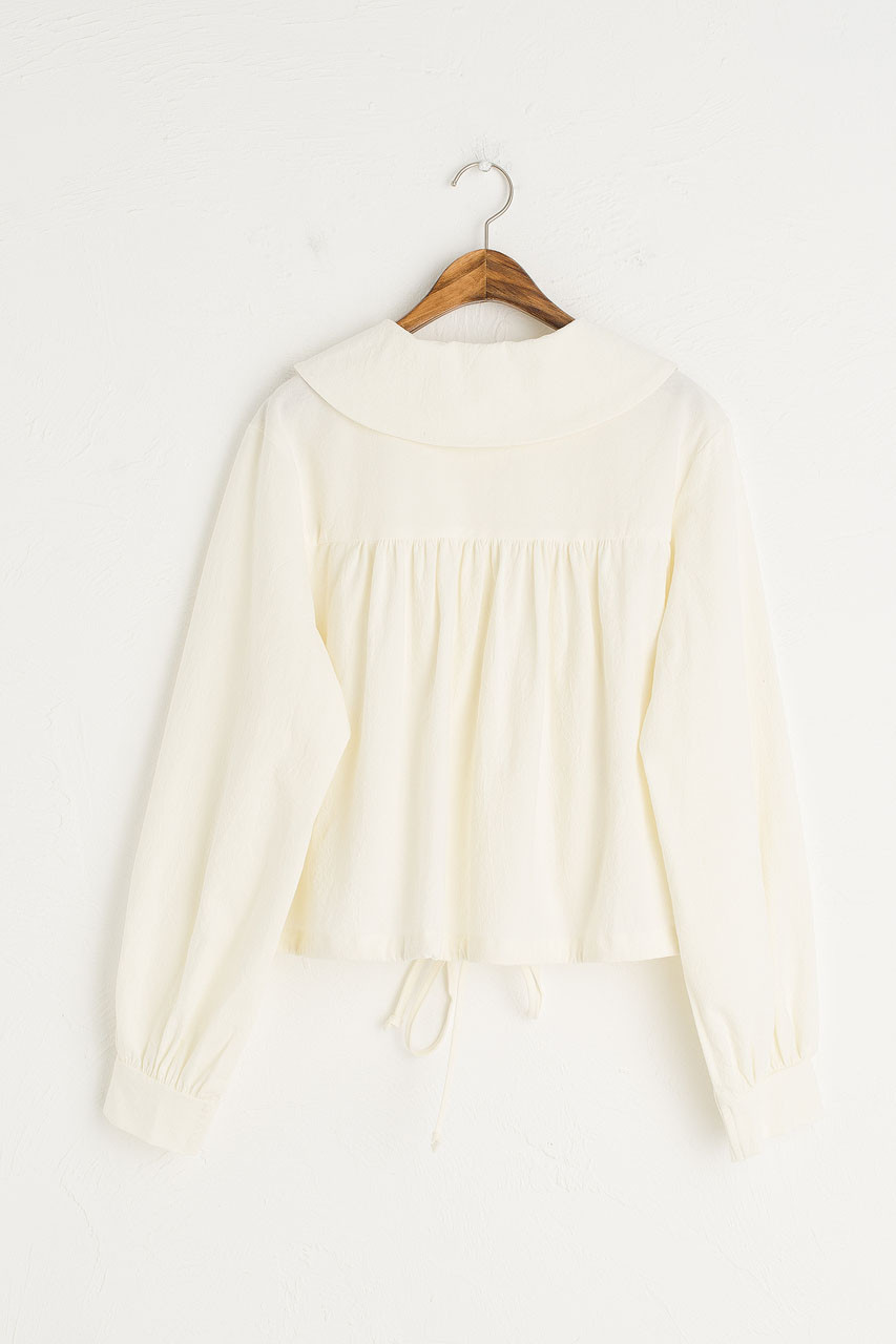 Alice Drawstring Blouse, Ivory