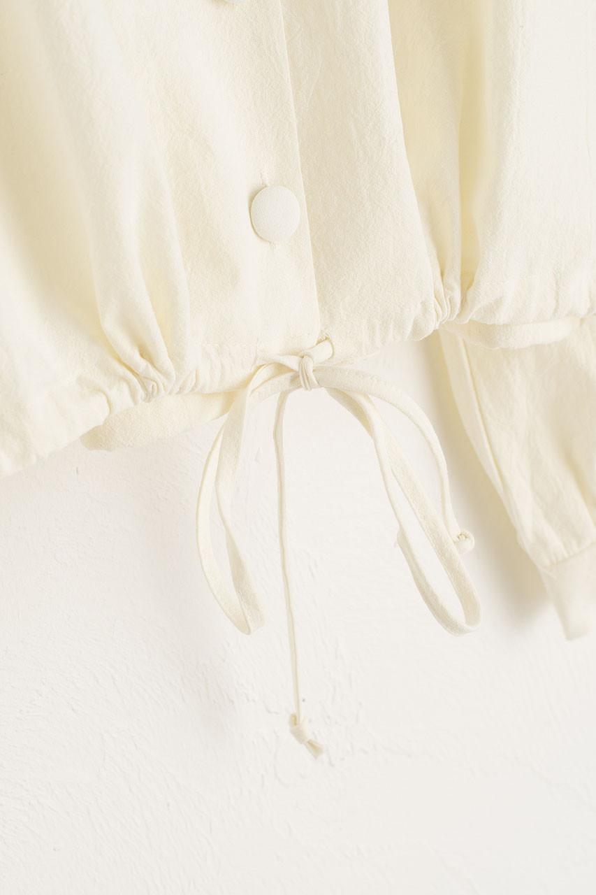 Alice Drawstring Blouse, Ivory
