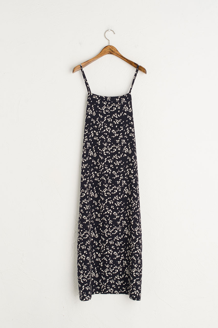 Animal Print Cami Dress, Navy