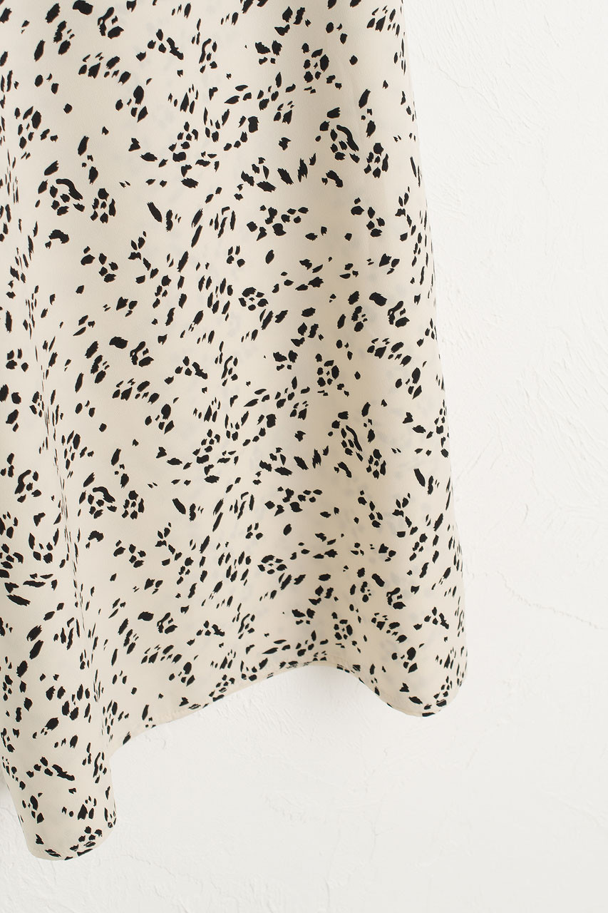 Animal Print Cami Dress, Ivory