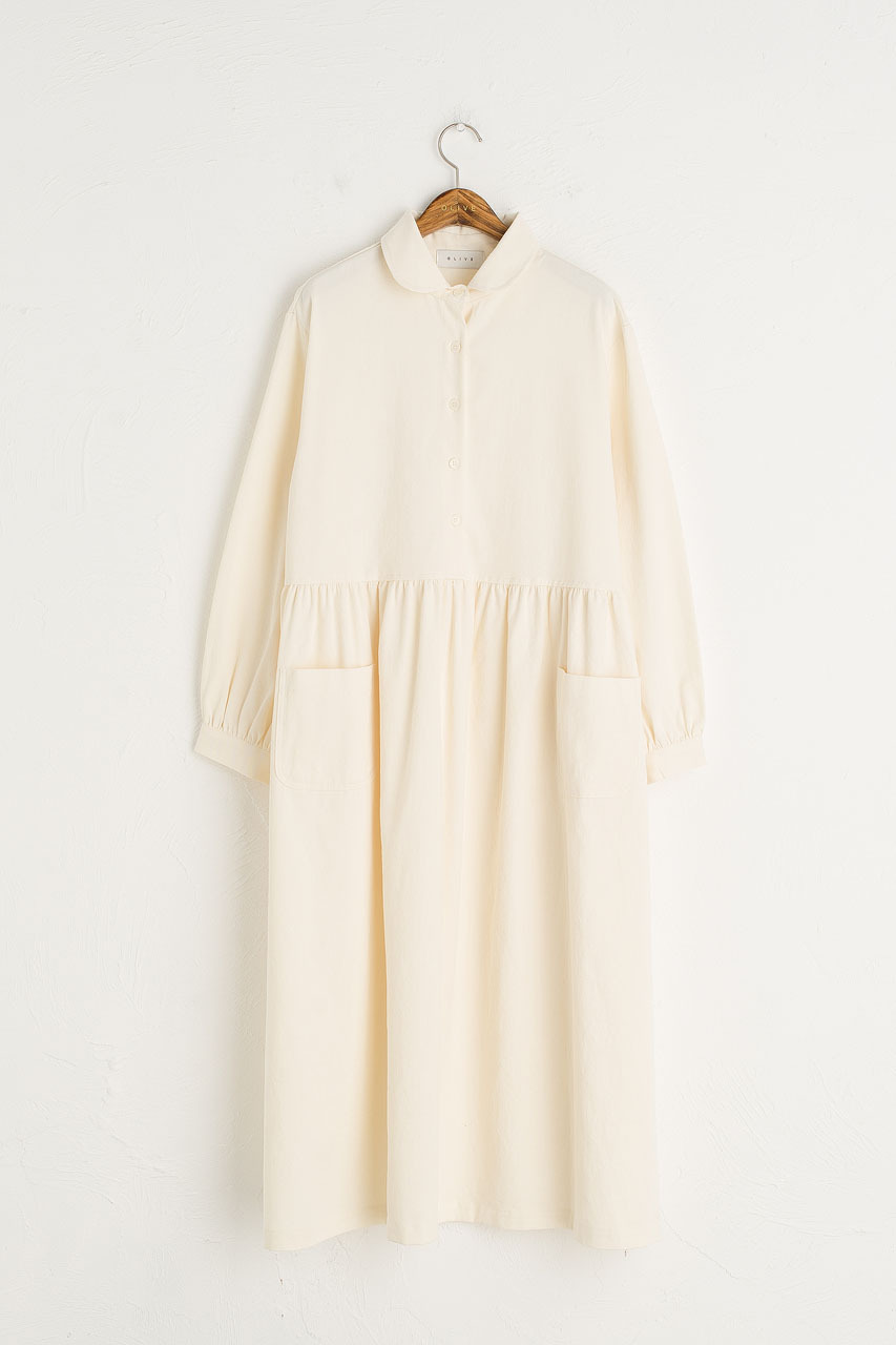 Ella Twin Pocket Dress, Ivory