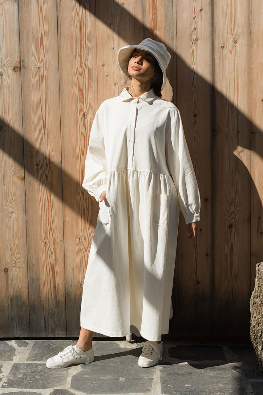 Ella Twin Pocket Dress, Ivory