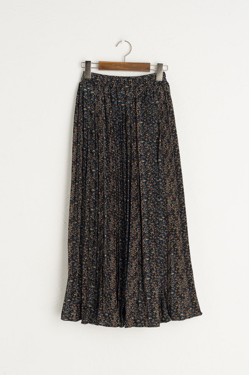 Fia Wildflower Skirt, Black