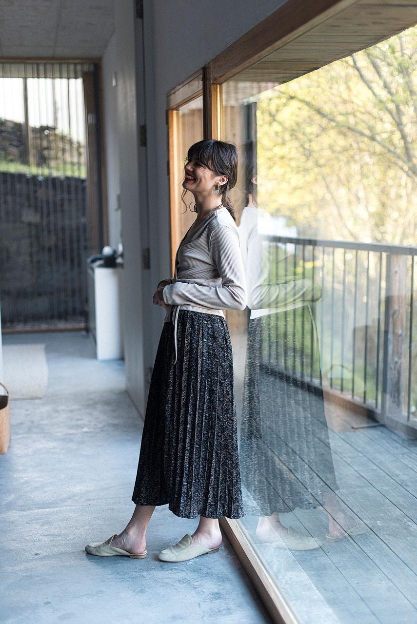 Fia Wildflower Skirt, Black